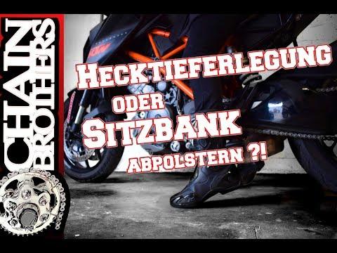 Motorrad tieferlegen oder Sitz abpolstern - Was ist besser? Hecktieferlegung