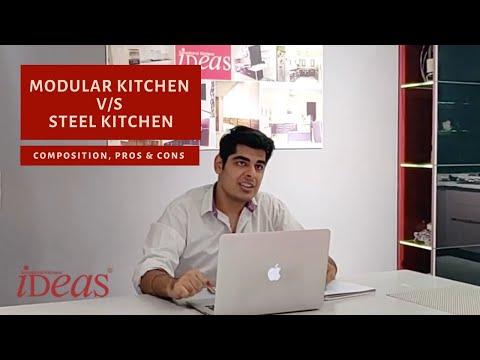 Stainless Steel Kitchen Versus Wooden Modular Kitchen