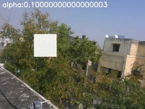 Add image to a live camera feed using OpenCV-Python