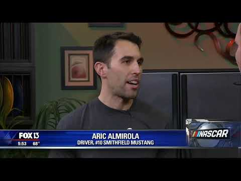 2019 Road to Daytona | Aric Almirola Interview on Tampa's Fox 13 WTVT