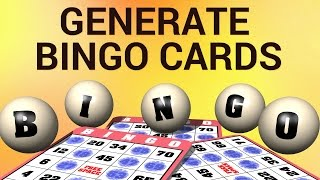 How to Generate Bingo Cards
