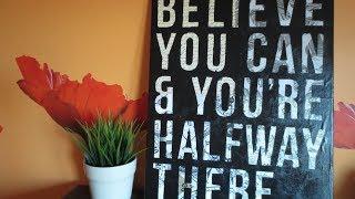 DIY: Easy Canvas Art - Custom Quote On Canvas (Room Decor)