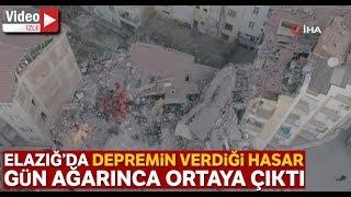 Elazığ'da Depremin Etkileri Gün Ağarınca Ortaya Çıktı