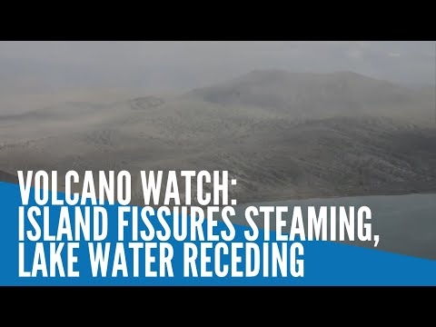 Taal Volcano watch: Island fissures steaming, lake water receding