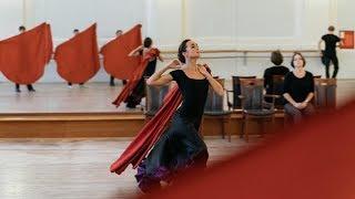 На репетиции концертной программы. Балет Игоря Моисеева.