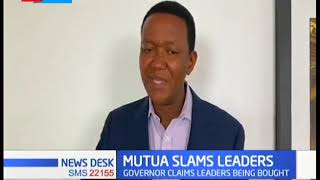 Alfred Mutua slams leaders of being bought ahead of 2022 general election