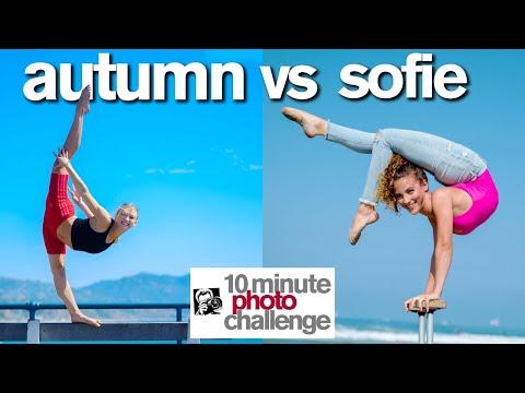 Breaking Sofie Dossi's 10 Minute Photo Challenge Record | ft. Autumn Miller