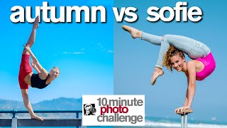Breaking Sofie Dossi's 10 Minute Photo Challenge Record | ft. Autumn Miller