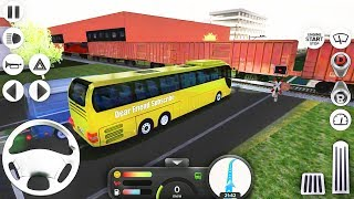 Coach Bus Simulator - Driving Yellow Bus Drive and Trains - Best Android GamePlay