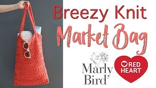 DIY Reusable Easy Breezy Knit Market Bag