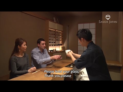 Learn from the master chef how to drink -JAPANESE SAKE-