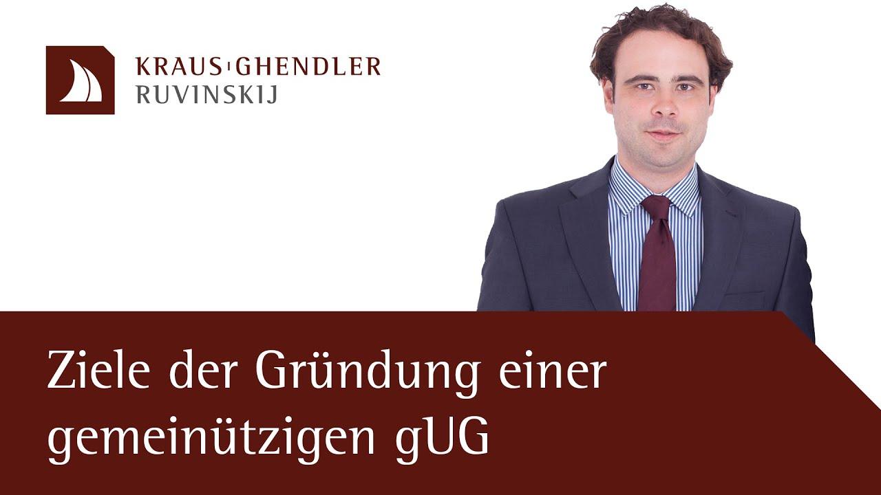 Ziele der Gründung einer gemeinnützigen gUG
