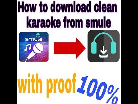 How to download original karaoke tracks-in smule sing-app-in-hindi