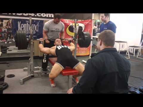 Garrett Gunz Griffin Raw 465lb bench press at 196bw Team Force Factor and Team BOAD