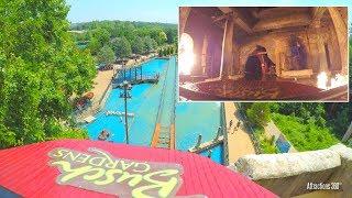[4K] Escape from Pompeii - Fire Adventure Water Ride - Busch Gardens Williamsburg
