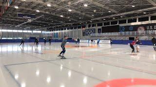 Short track workout USA speedskating