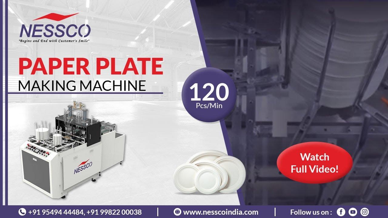 PAPER PLATE MAKING MACHINE (Speed120 PCS/MIN)   Nessco