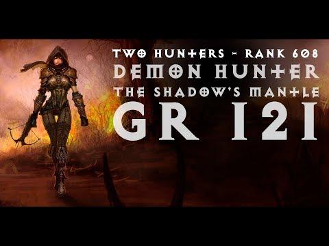 Diablo III -  | GR 121 | 2 Demon Hunter (The Shadow's Mantle (Мантия тени) | Rank 608