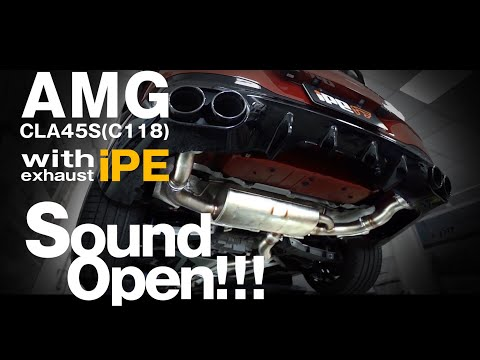 2020 AMG CLA45s  sport   catpipe OPF cancel iPE exhaust