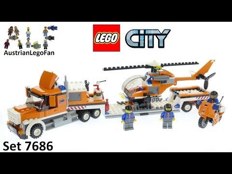 Vidéo LEGO City 7686 : Le transport de l'hélicoptère