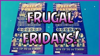 FRUGAL FRIDAYS!! (2) $10 Wheel of Fortune - Florida Lottery Scratchers