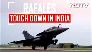 5 Rafale Fighter Jets Touch Down At Ambala Air Base