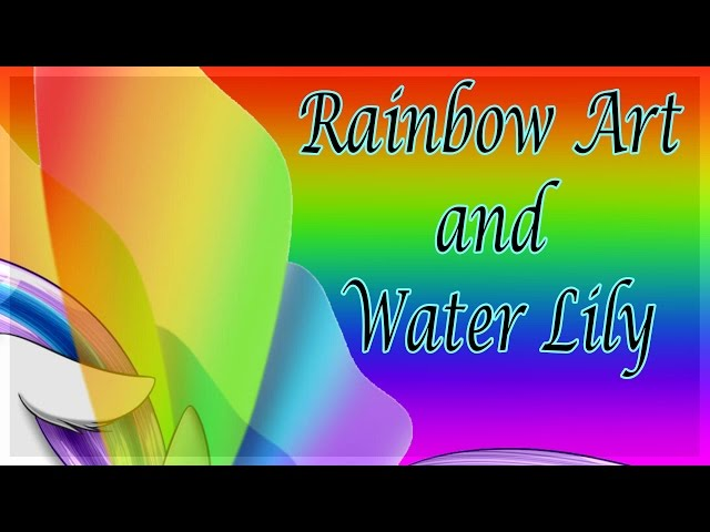Rainbow-art-and-water-lily