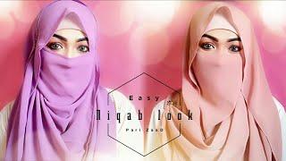 Easy Niqab Summer Special Hijab Tutorial   Pari ZaaD ❤