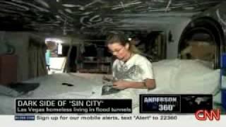 LAS VEGAS: Living in underground tunnels