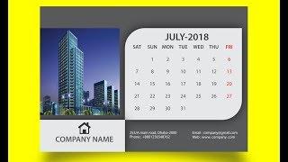 Calendar Design In Adobe Illustrator CC 2018