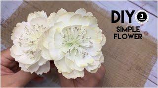 DIY. 🌸Part1. Handmade Simple Flower. Простой цветок из фоамирана