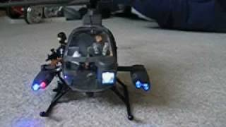 Hughes Defender Coax R/C Heli LEDs plus the Anthrax song ''Cupajoe''
