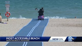 Bradford Beach 'most accessible beach' in America.
