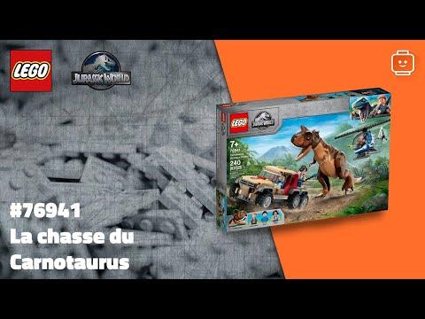 Vidéo LEGO Jurassic World 76941 : La chasse du Carnotaurus