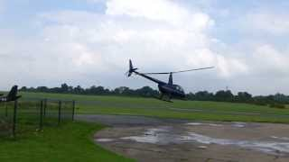 preview picture of video 'Robinson R44 Helicopter Taking Off at Elstree'