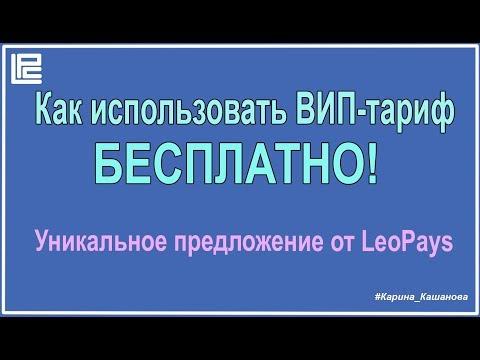 LeoPays - как пользоваться ВИП -тарифом БЕСПЛАТНО