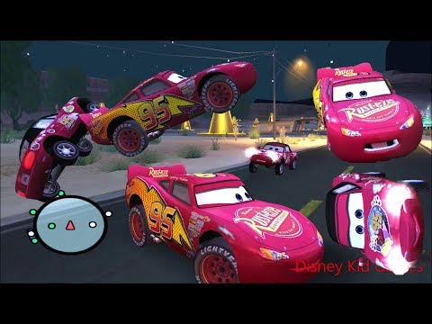 Disney Pixars Cars Movie Game - Crash Mcqueen 205 - Bumping Into Mia
