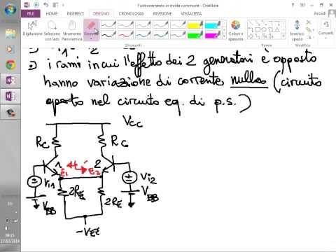 Elettronica 2014 - Lezione 25 - Stadio amplificatore differenziale