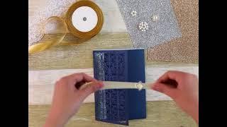 DIY~Luxury Gate Tri-fold Laser Cut Wholesale Wedding Invitation Cards WPFC2127