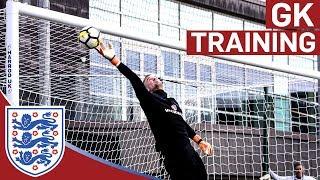 High Intensity Drills for England's Senior Goalkeepers | Goalkeeper Training