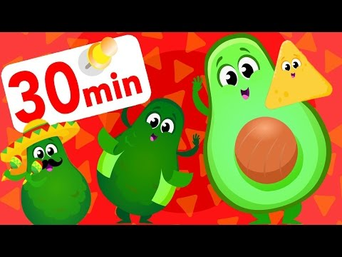 Peel The Avocado! Guacamole Dance Kids Song! Where My Stripes & Tail Baby Shark by Little Angel