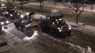 preview picture of video 'Street snow removal (Deneigement in Lachine) - Montreal, Quebec, Canada'
