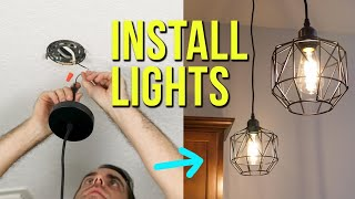 How to Install Ceiling Light Fixtures   New & Replacement Pendant Lighting
