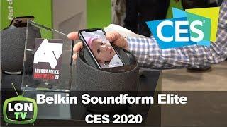 Belkin Soundform Elite Smart Speaker Designed with DVLA at CES 2020