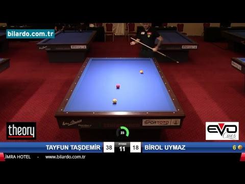 TAYFUN TAŞDEMİR & BİROL UYMAZ Bilardo Maçı - 2018 - TÜRKİYE 1.LİGİ-Final