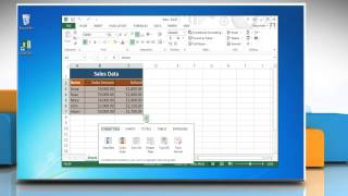 How to use Quick Analysis in Excel 2013