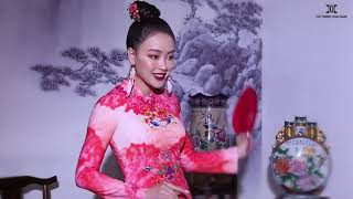 Mẫu áo dài tuyệt sắc để du xuân | Áo Dài Đỗ Trịnh Hoài Nam