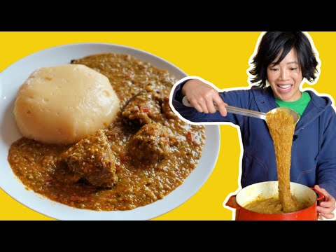 My First Taste of Fufu & Okro Stew 🇬🇭