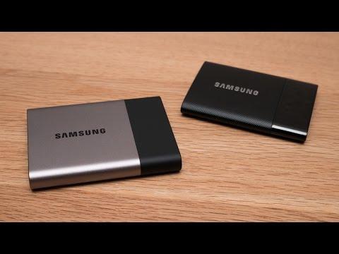 Externe SSD Festplatte - Samsung Portable SSD T3 und T1 Review und Vergleich Deutsch