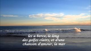 La Mer ~ Francoise Hardy (HD, HQ) With French Lyrics